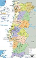 Portugáia autó térkép